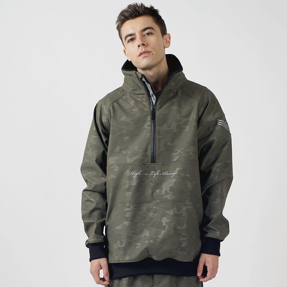 1920 UNIQUE W.R HALF ZIP UP - KHAKI