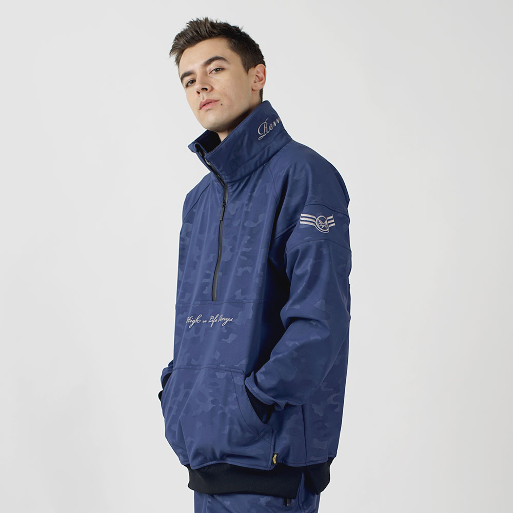 1920 UNIQUE W.R HALF ZIP UP - NAVY