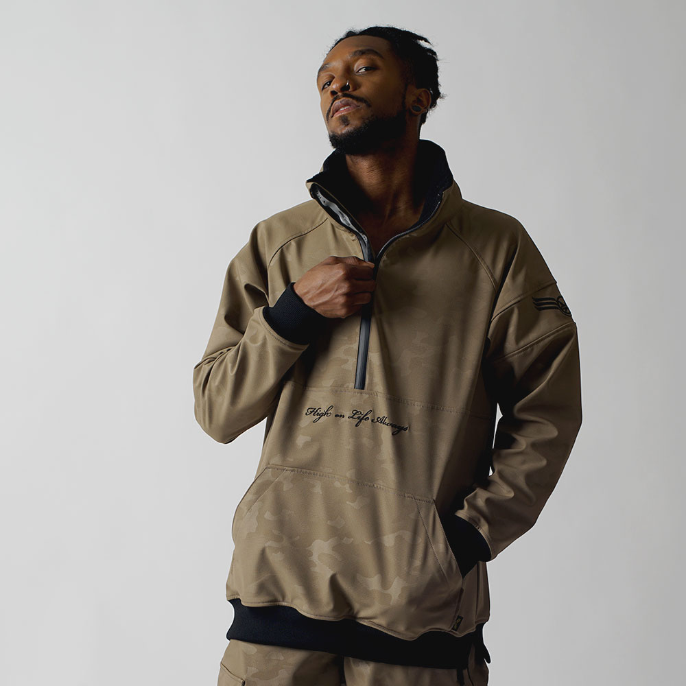 1920 UNIQUE W.R HALF ZIP UP - BEIGE