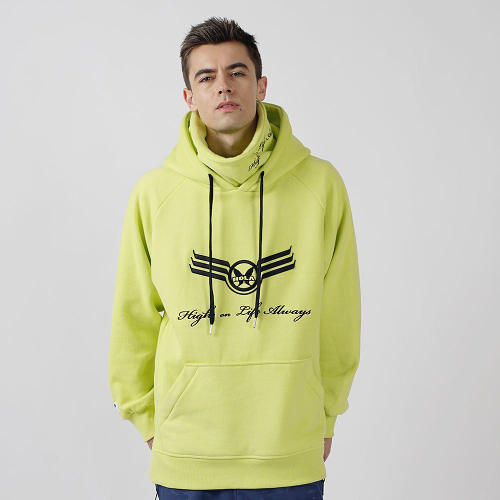 1920 BIG LOGO WARMER HOODY - FLOURESCENT LIME