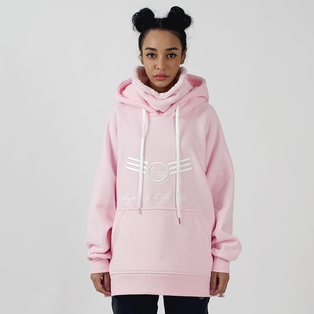 1920 BIG LOGO WARMER HOODY - PINK